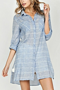 Shoptiques Product: Checkered Button-Up