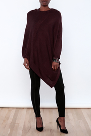 Miilla Burgundy Poncho - Front full body