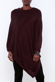 Miilla Burgundy Poncho - Product Mini Image
