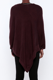 Miilla Burgundy Poncho - Back cropped