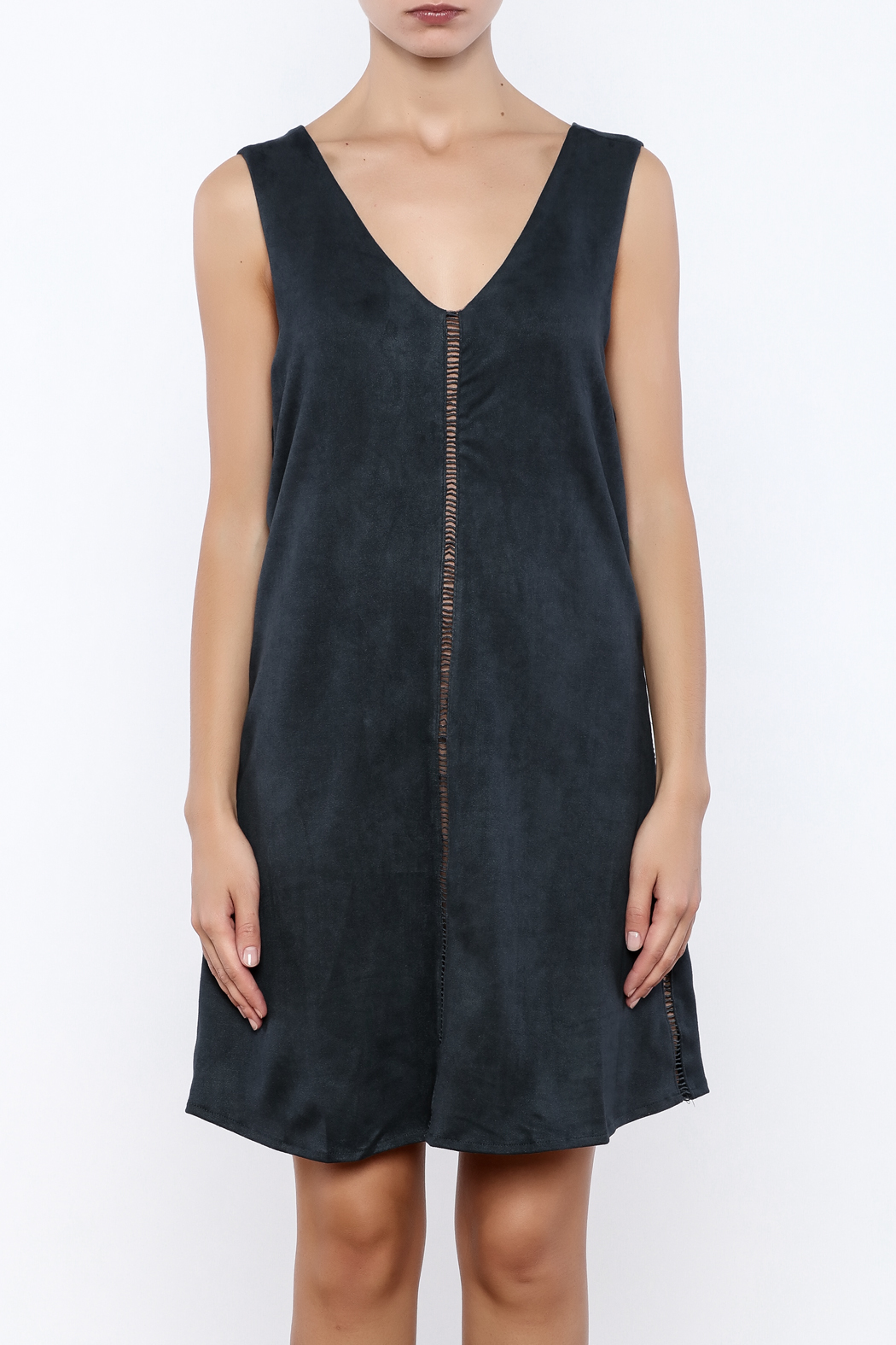 Miilla Sleeveless Faux Suede Dress - Side Cropped Image