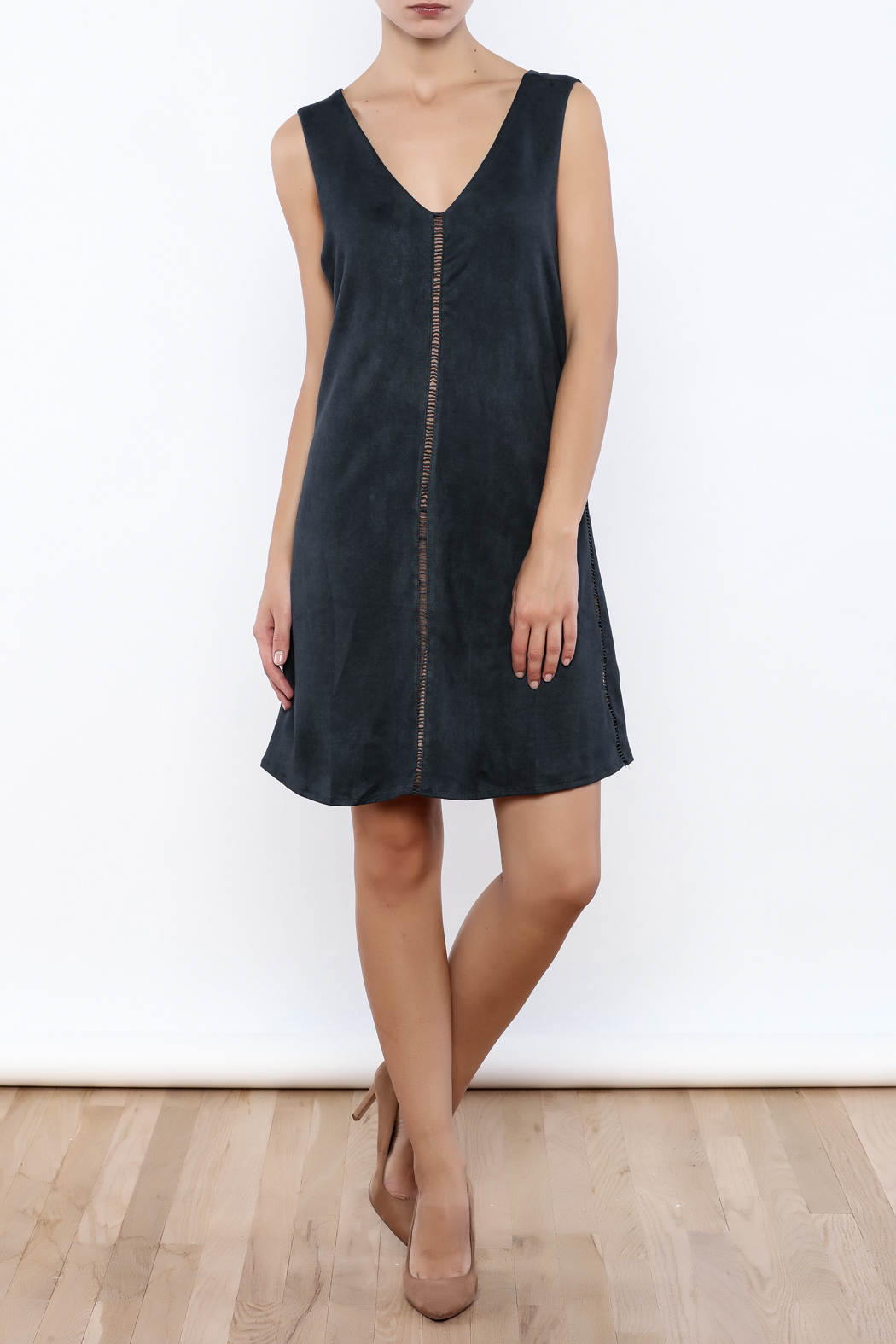 Miilla Sleeveless Faux Suede Dress - Front Full Image
