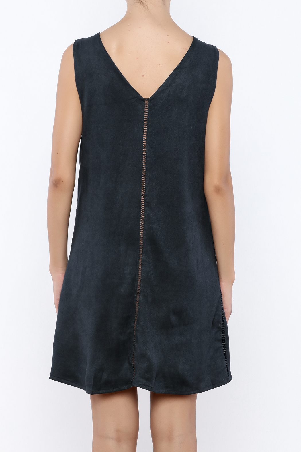 Miilla Sleeveless Faux Suede Dress - Back Cropped Image