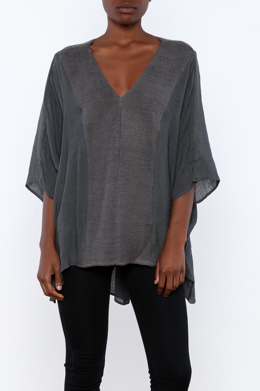 Miilla Grey Dolman Top - Front Cropped Image