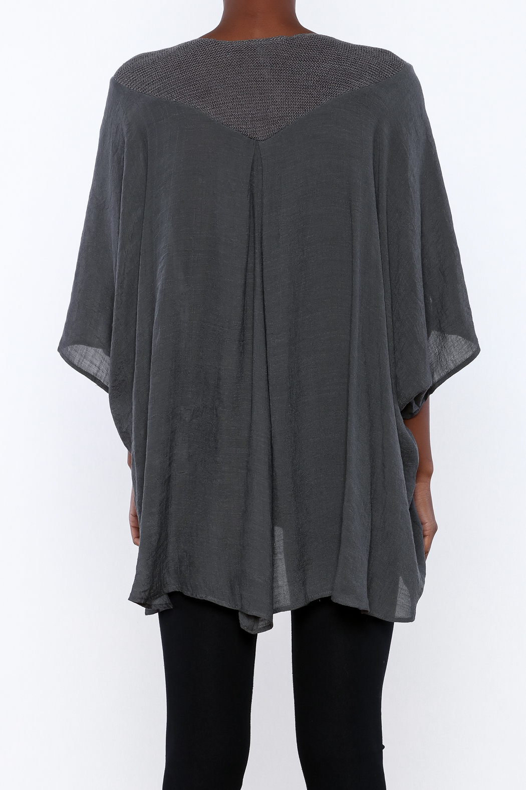 Miilla Grey Dolman Top - Back Cropped Image