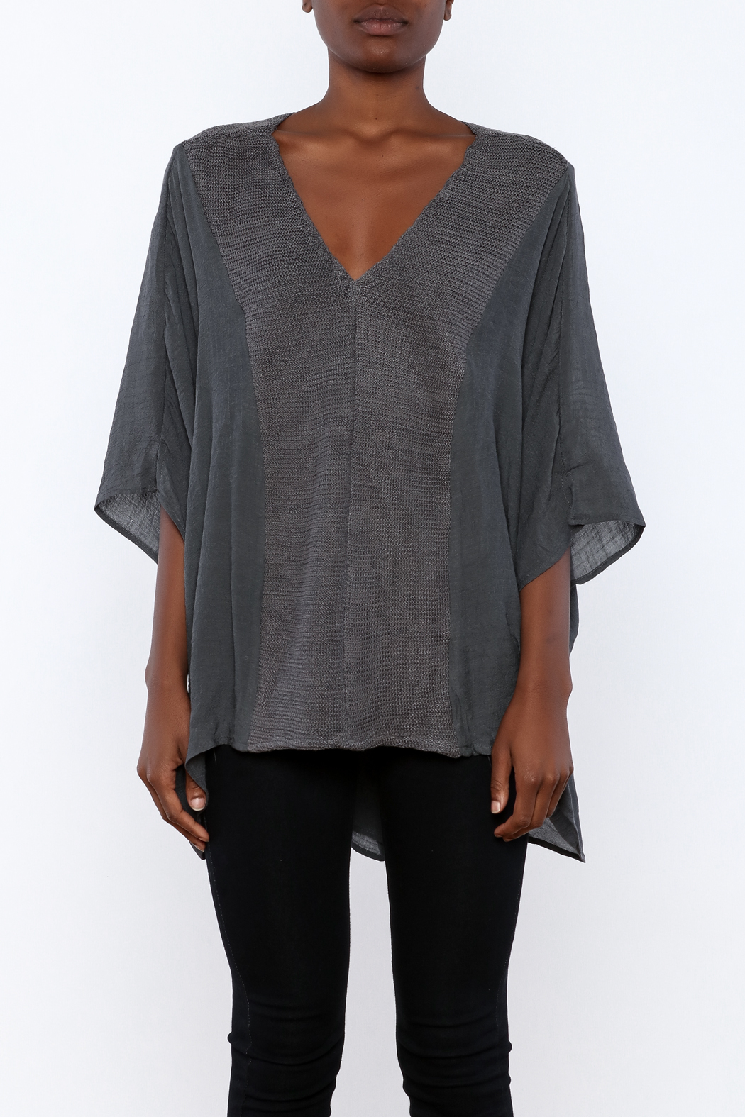 Miilla Grey Dolman Top - Side Cropped Image
