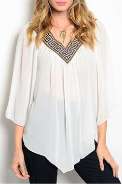 Miin Aztec Embroider Blouse - Product List Image