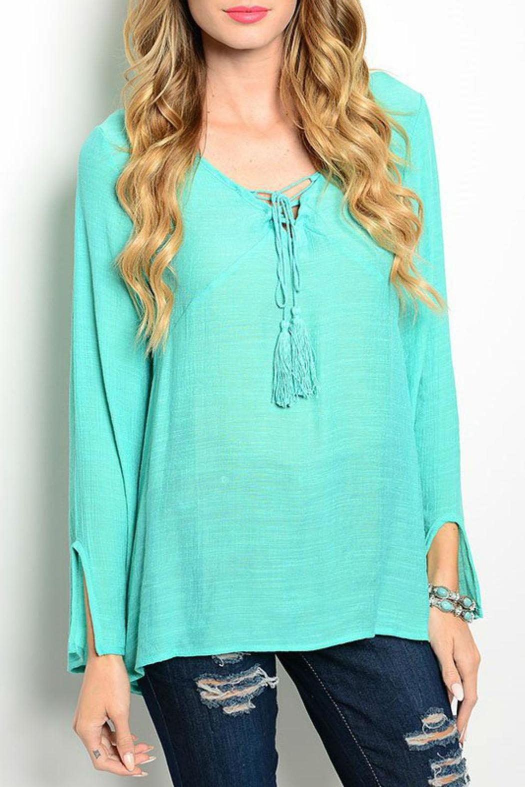 Miin Ocean Breeze Tunic - Front Cropped Image