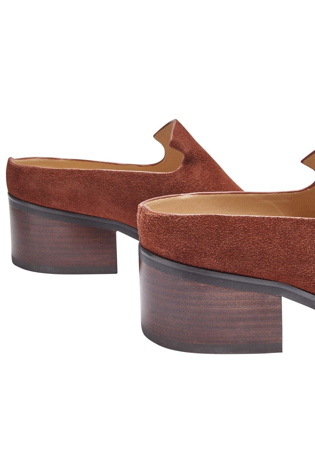 Miista Bettsie Suede Mules - Back Cropped Image