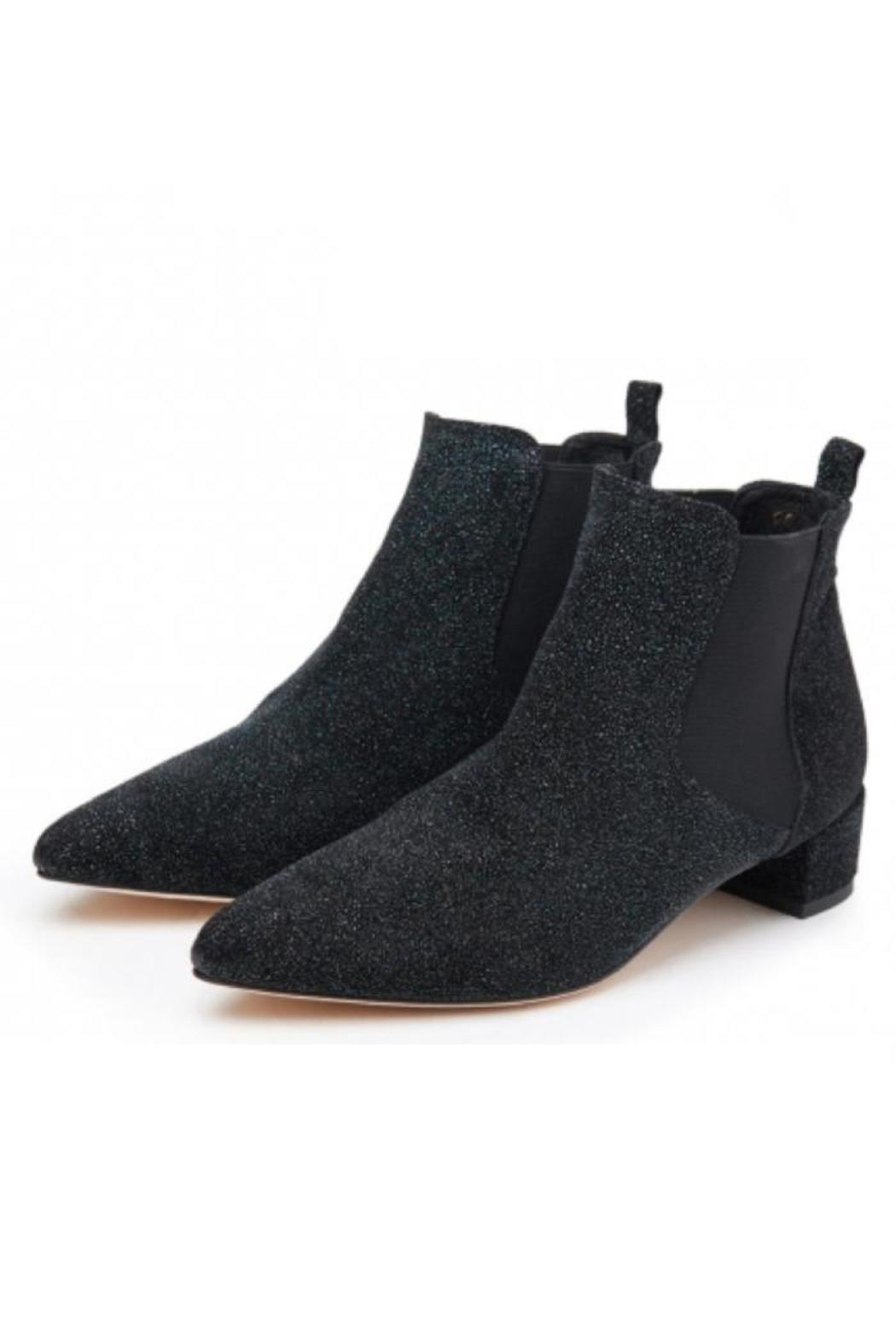 miista black sparkle ankle boots from san francisco by