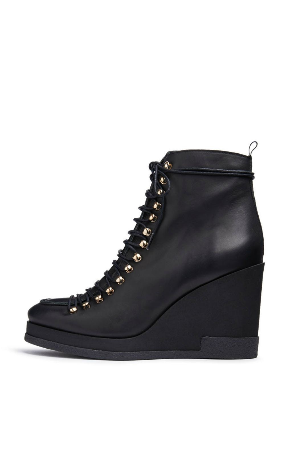 Miista Leather Lace-Up Wedge - Main Image