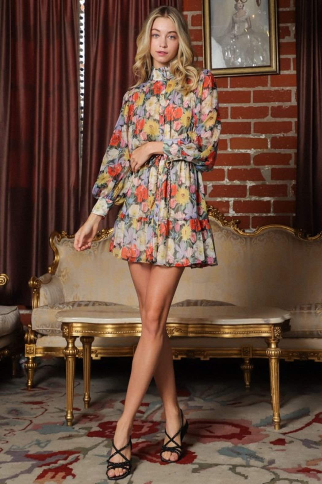 AAKAA Mija Floral Dress - Side Cropped Image