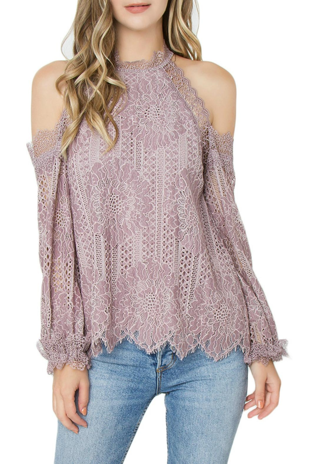 Sugar Lips Mika Cold-Shoulder Top - Main Image
