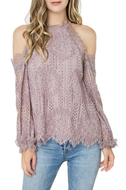Sugar Lips Mika Cold-Shoulder Top - Front cropped