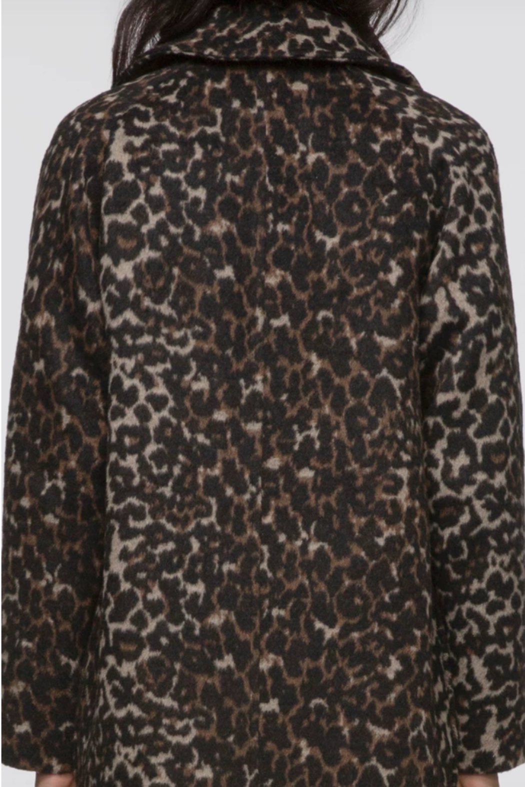 Greylin Mika Soft Leopard Coat - Side Cropped Image