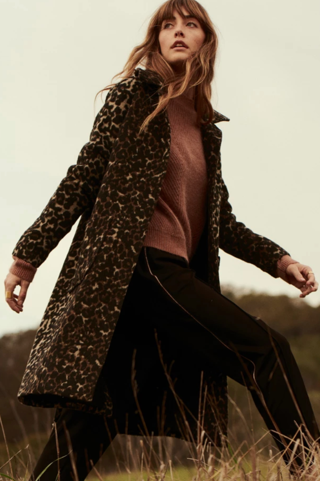 Greylin Mika Soft Leopard Coat - Front Cropped Image