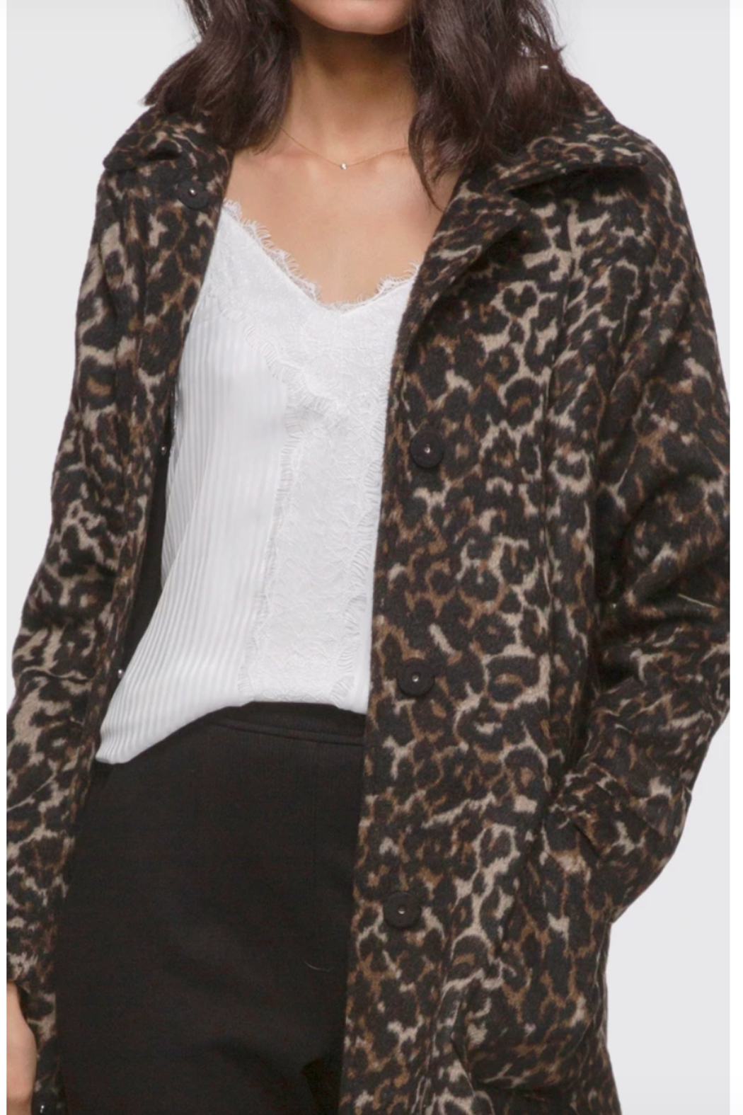 Greylin Mika Soft Leopard Coat - Front Full Image
