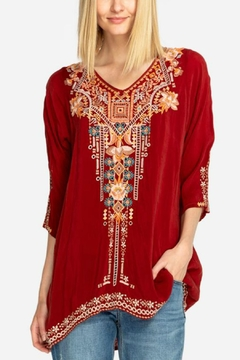 Johnny Was Mikaela Embroidered Tunic - Product List Image