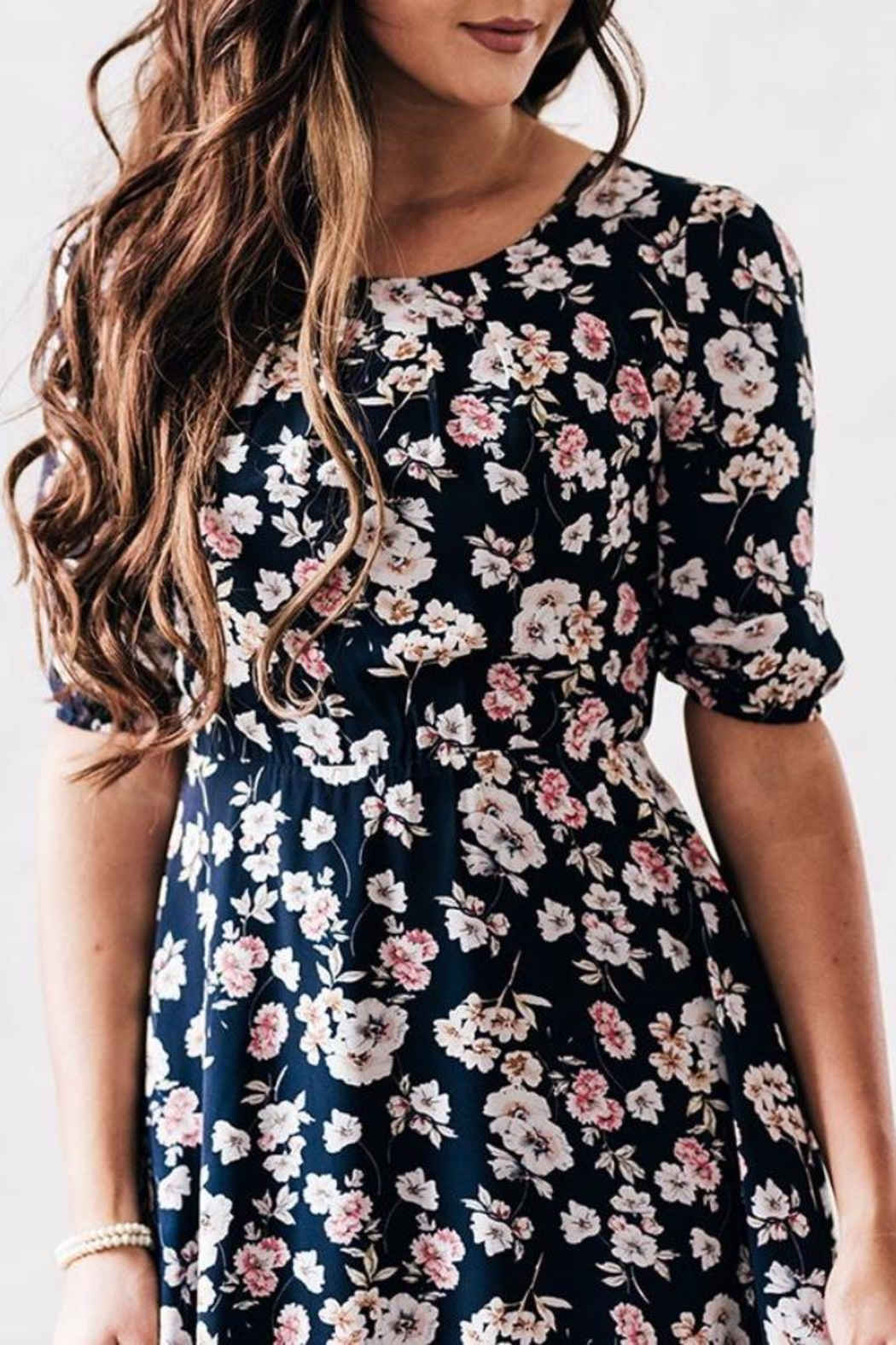 Mikarose Floral Dress - Front Full Image