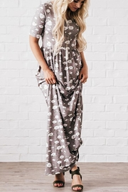 Mikarose Grey Floral Maxi - Product Mini Image