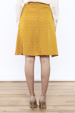 Mikarose Mustard Raccoon Skirt - Alternate List Image