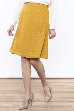 Mikarose Mustard Raccoon Skirt - Product List Image