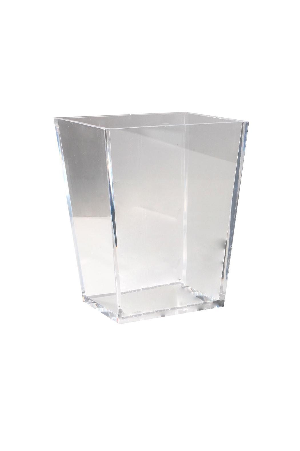 mike & ally clear lucite wastebasket from texascasa di lino