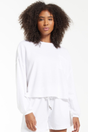 z supply Miki Terry Long Sleeve Top - Product Mini Image