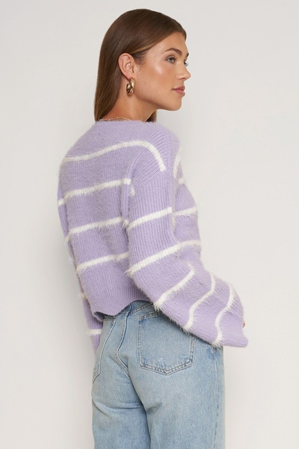 Dee Elly Mikinzie Bell Sleeve Sweater - Front Full Image