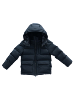 Shoptiques Product: Mikkloe Black Water Repellent Down Filling Puffer Hooded Jacket | Winterwear