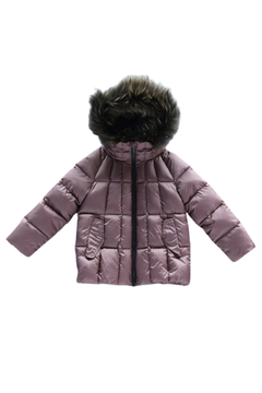 Shoptiques Product: Mikkloe Fur Trimmed Down Filled Hooded Jacket with Flap Pockets | Winterwear