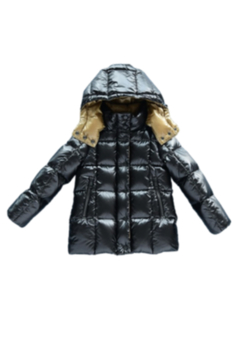 Shoptiques Product: Mikkloe Two Toned Hooded Down Filled Jacket For Girls