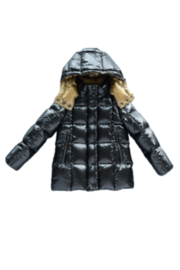 MIKKLOE Mikkloe Two Toned Hooded Down Filled Jacket For Girls - Product Mini Image