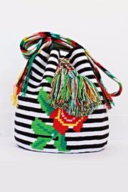 Mikko Mochila White Stripes Bag - Product Mini Image