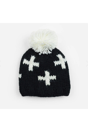 The Blueberry Hill Miko Swiss Cross Knit Hat - Front cropped