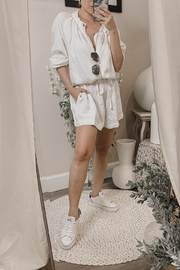 Mikoh Giana Slouchy Short Romper - Front cropped