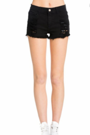 O2 Denim Mila Distressed Denim Shorts - Product Mini Image