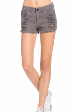 O2 Denim Mila Distressed Denim Shorts - Product List Image