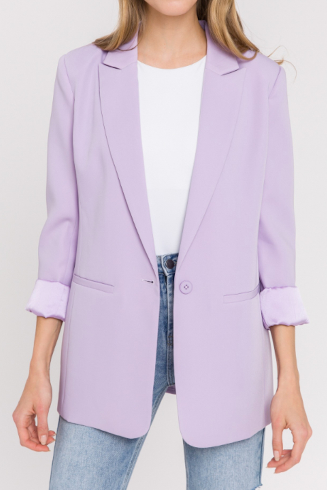 Endless Rose Mila Tailored Blazer - Front Cropped Image