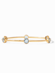 Julie Vos MILANO 6-STONE BANGLE-CLEAR AZURE BLUE(SMALL) - Product Mini Image