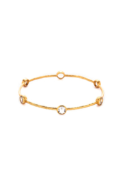 The Birds Nest MILANO 6 STONE BANGLE-CLEAR CRYSTAL(MEDIUM) - Front cropped