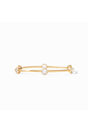 Julie Vos MILANO 6 STONE BANGLE-CLEAR CRYSTAL (SMALL) - Front cropped