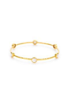 Julie Vos MILANO 6-STONE BANGLE-MOTHER OF PEARL (SMALL) - Alternate List Image