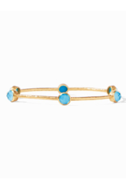 Julie Vos MILANO 6-STONE BANGLE-PACIFIC BLUE(SMALL) - Product Mini Image