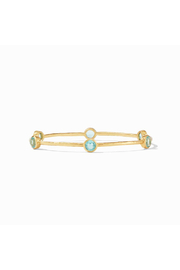 Julie Vos Milano Bangle Gold Bahamian Blue -Small - Product Mini Image