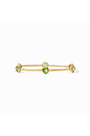 Julie Vos Milano Bangle-Gold/Jade Green - Large - Product Mini Image