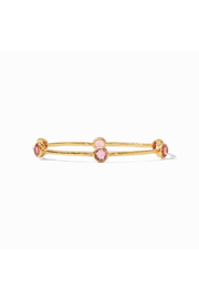 Julie Vos Milano Bangle-Gold/Rouge - Small - Product Mini Image