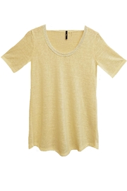 MIlano  Beige Burnout Top - Product Mini Image