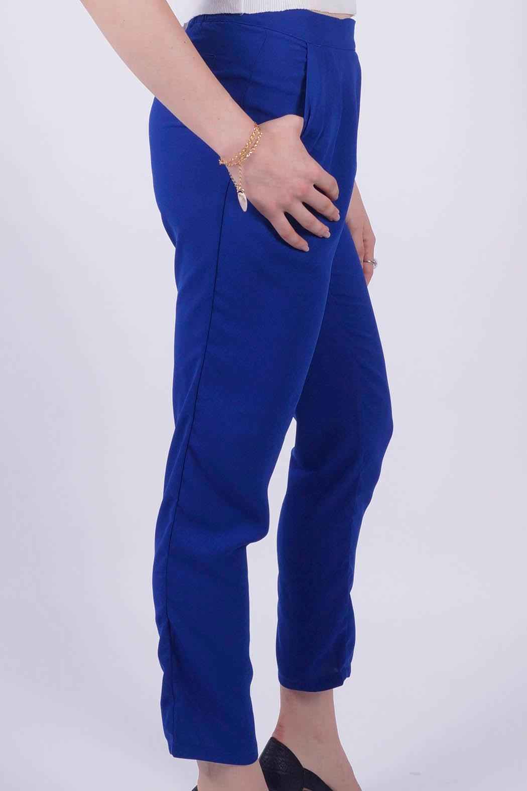 NU New York Milano Blue Pant - Side Cropped Image