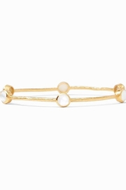 Julie Vos MILANO LUXE BANGLE GOLD IRIDESCENT CLEAR CRYSTAL(MEDIUM) - Product Mini Image